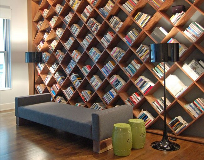 23 Awesome Industrial Wall Bookshelves Designs Ideas 03