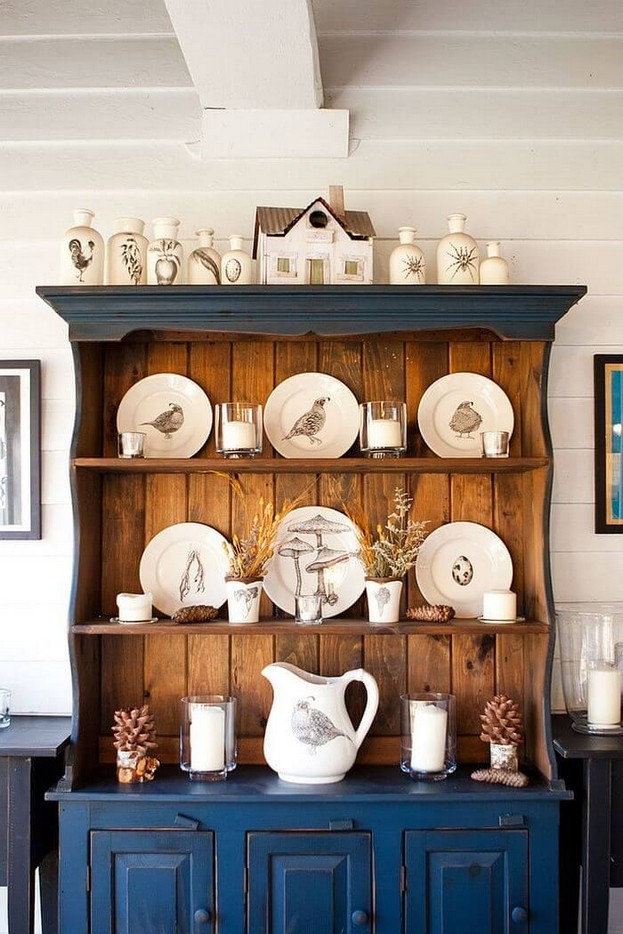 23 Cool Dining Room Wall Cabinet Design Ideas 12
