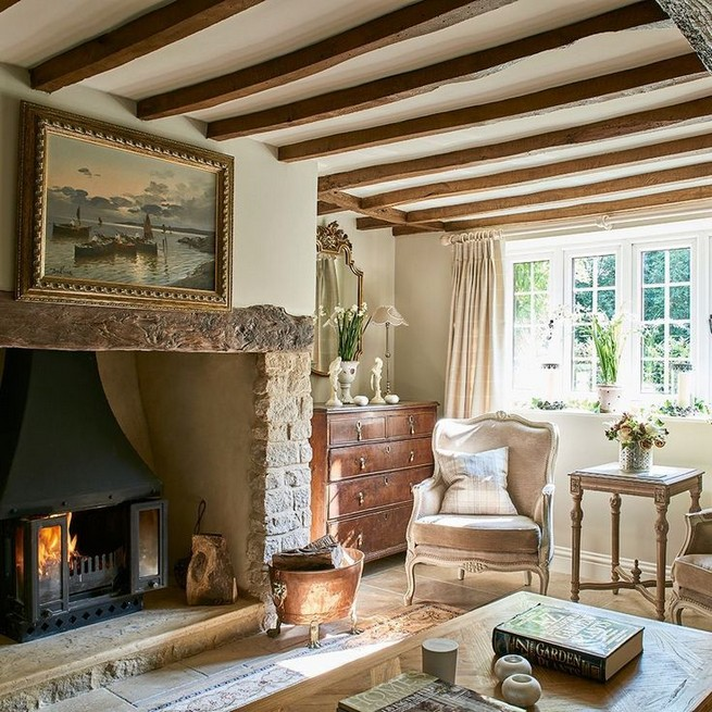 23 Wonderful French Country Living Room Decoration Ideas 16