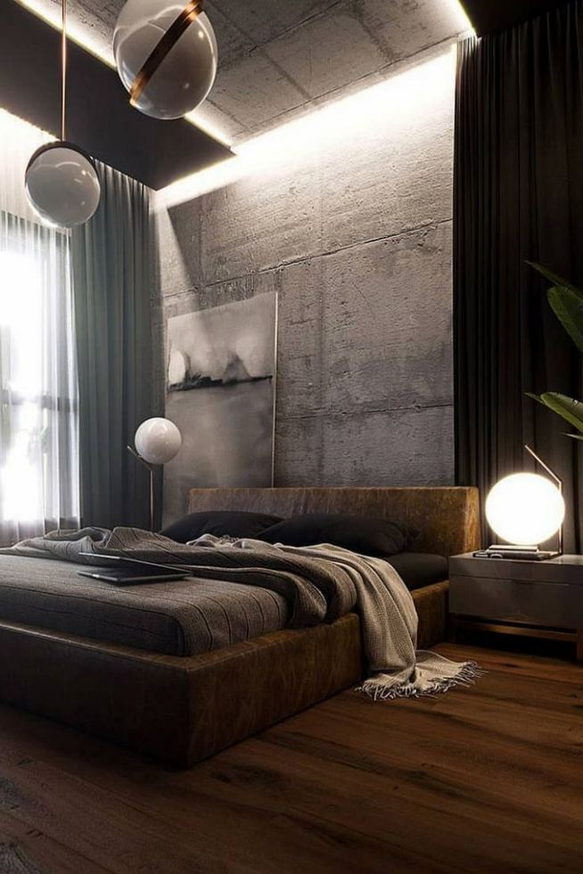 12 Stylish Industrial Style Bedroom Design Ideas 24