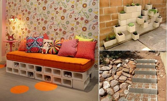 13 Creative Ways To Decorate Your Garden Home Using Cinder Blocks 10