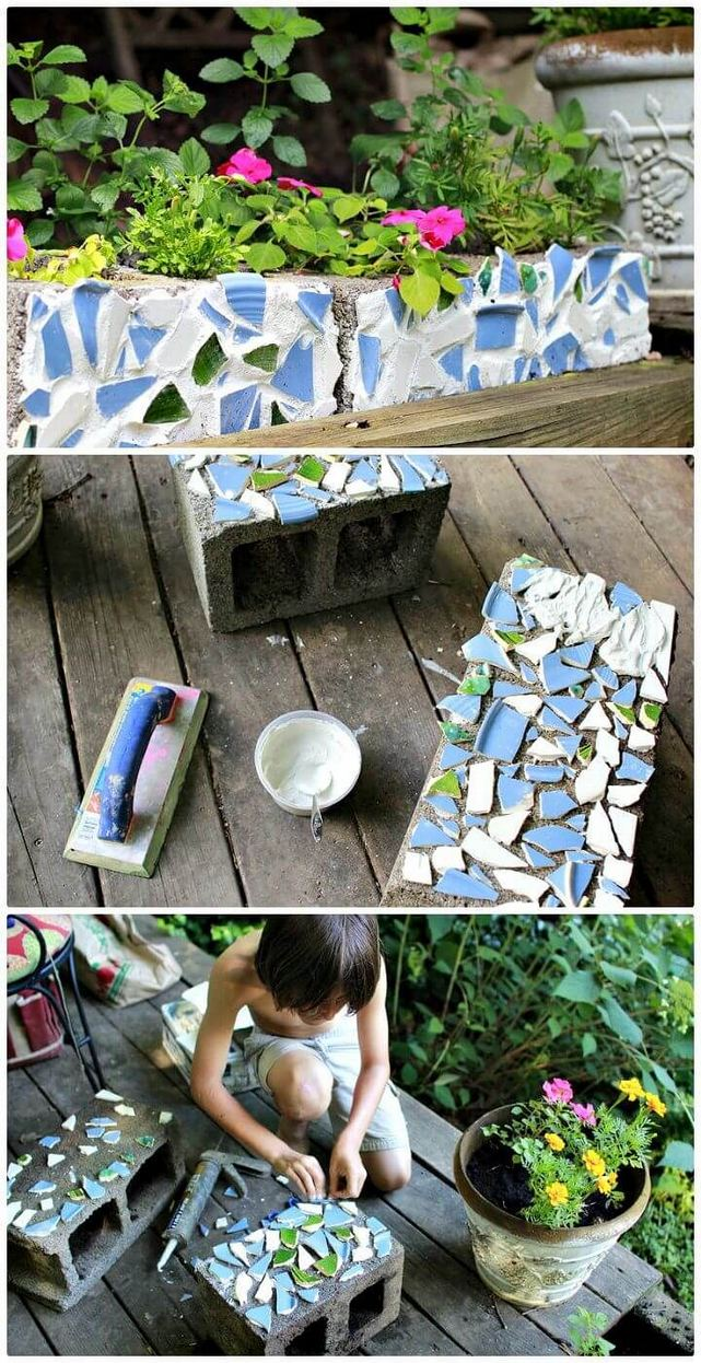 13 Creative Ways To Decorate Your Garden Home Using Cinder Blocks 11