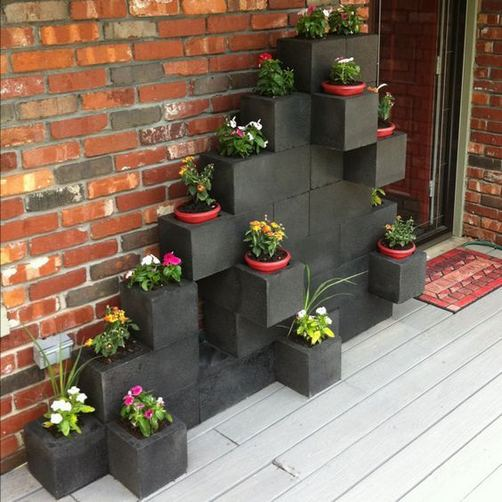 13 Creative Ways To Decorate Your Garden Home Using Cinder Blocks 23