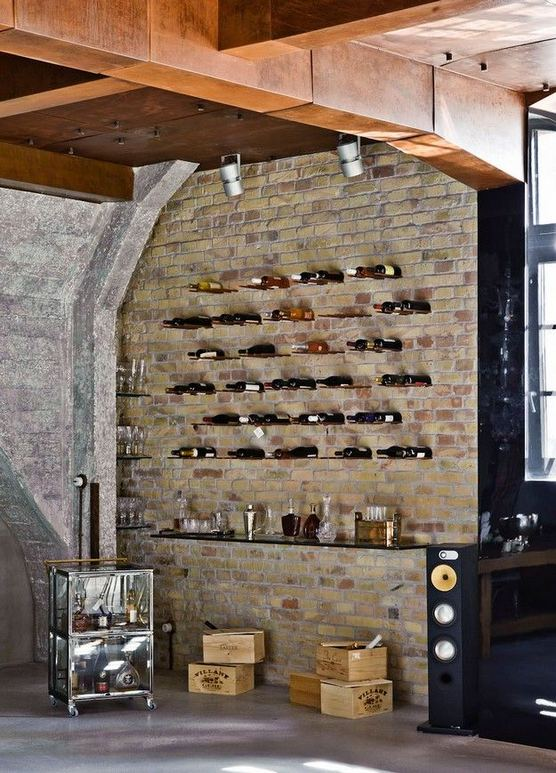 13 Stunning Industrial Wall Wine Rack Designs Ideas 14