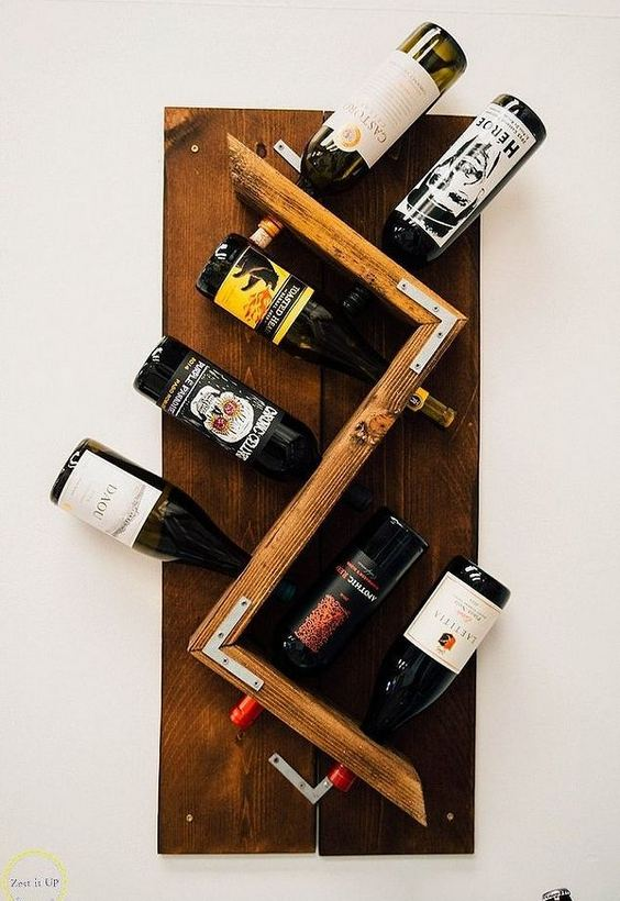 13 Stunning Industrial Wall Wine Rack Designs Ideas 22
