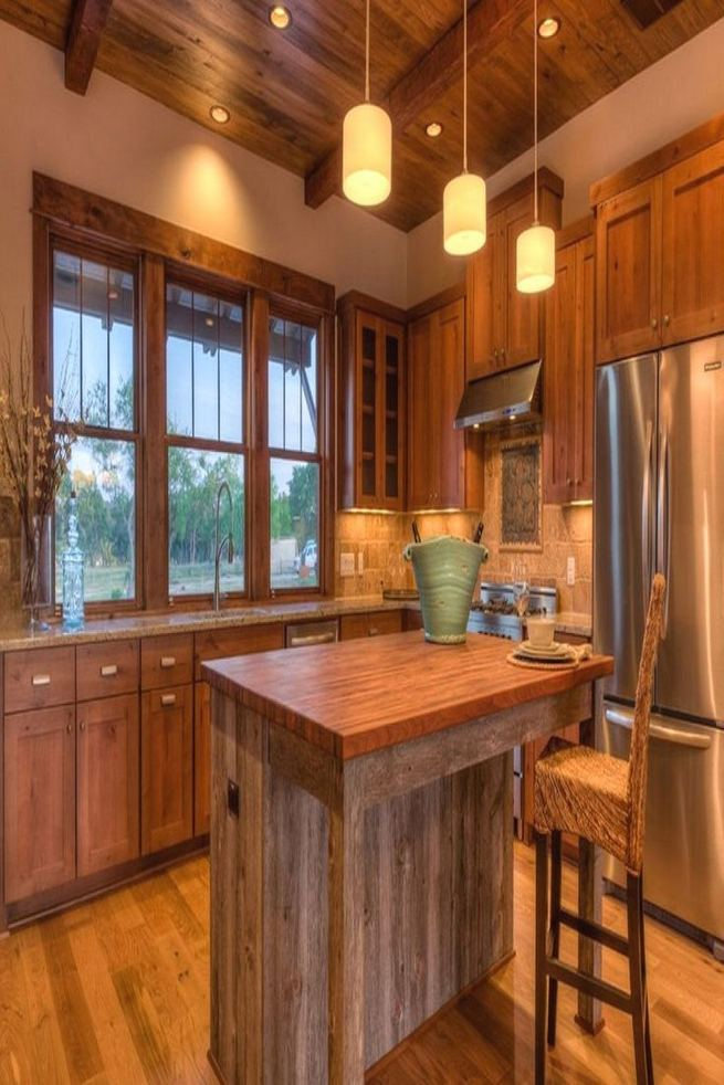 14 Stunning Vintage Wooden Kitchen Island Decor Ideas 15