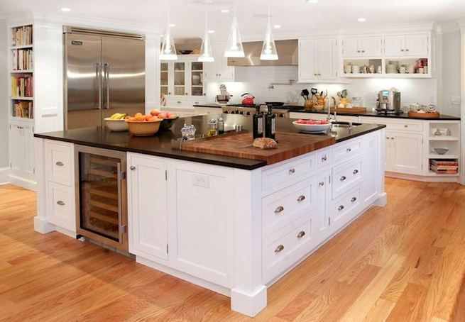 14 Stunning Vintage Wooden Kitchen Island Decor Ideas 41