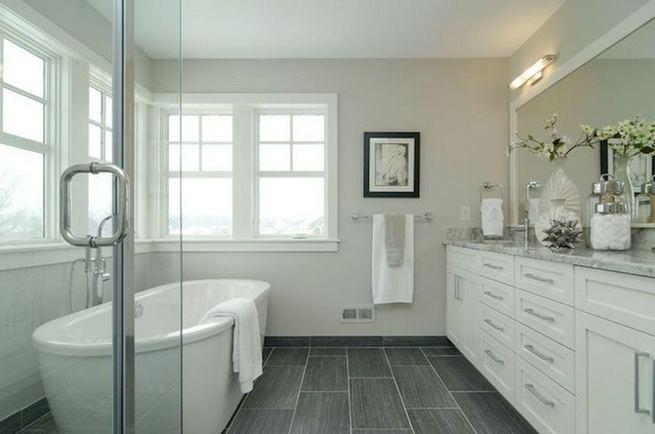 15 Awesome Black Floor Tiles Design Ideas For Modern Bathroom 21