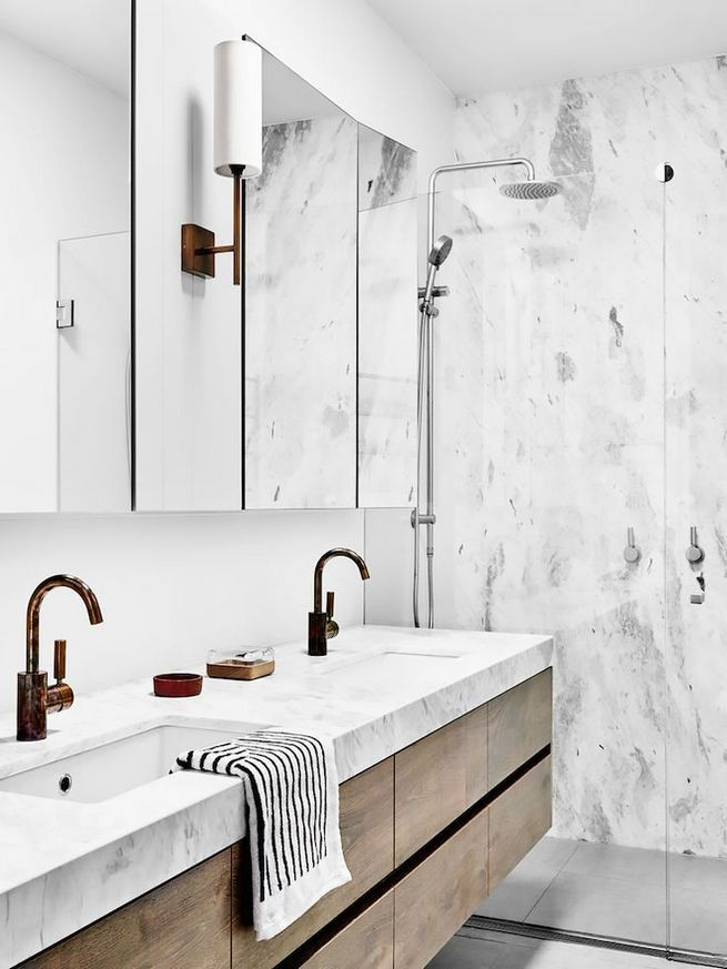 15 Inspiring Marble Bathroom Sink Designs For Your Luxury Home 34
