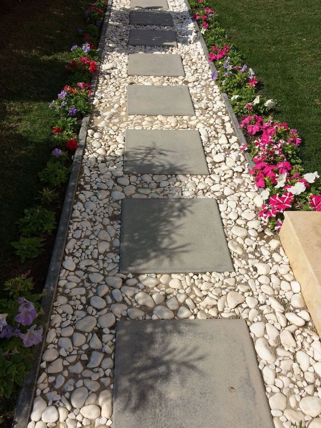 15 Popular Rock Pathway Design Ideas Enhance Beautiful Garden 09