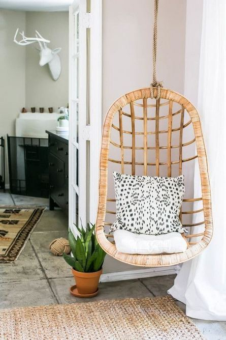 16 Adorable Rattan Hanging Chair Design Ideas 33