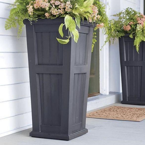 16 Creative DIY Tall Pots Planters Ideas For Modern Garden 25