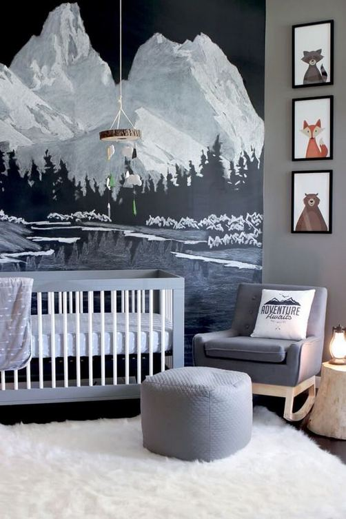 16 Popular Baby Boy Nursery Room With Animal Designs 26