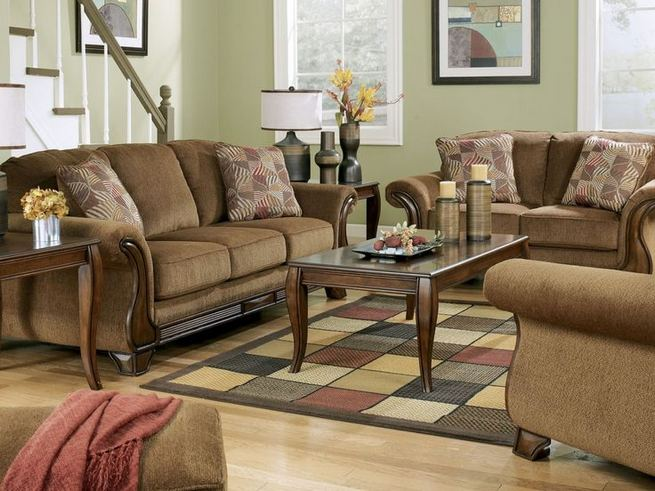 17 Attractive Brown Leather Living Room Furniture Ideas 25