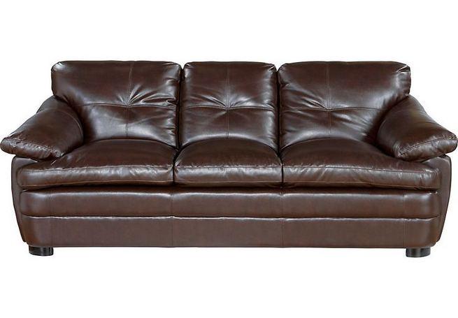 17 Attractive Brown Leather Living Room Furniture Ideas 40