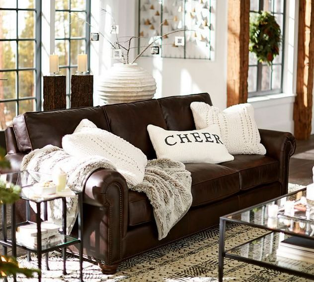 17 Attractive Brown Leather Living Room Furniture Ideas 44