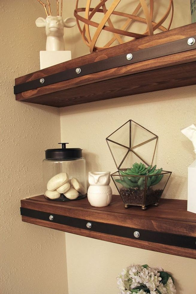 19 Cool Creative Bathroom Wall Shelves Ideas For Small Space 23