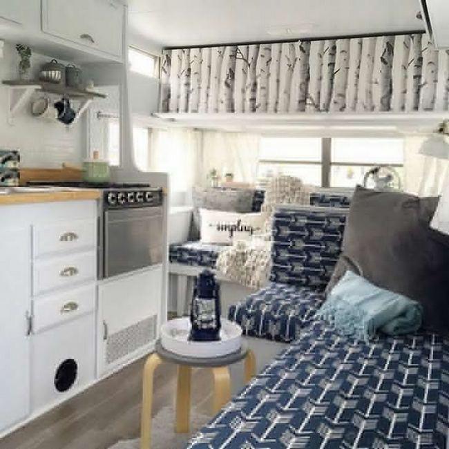 14 Best RV Camper Van Interior Decorating Ideas 05