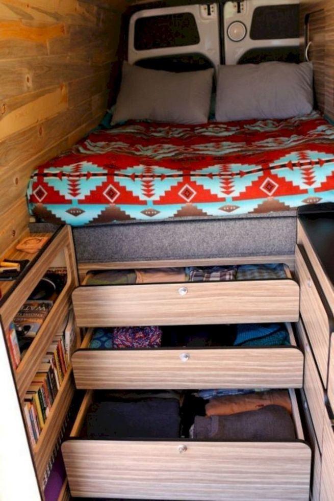14 Best RV Camper Van Interior Decorating Ideas 17