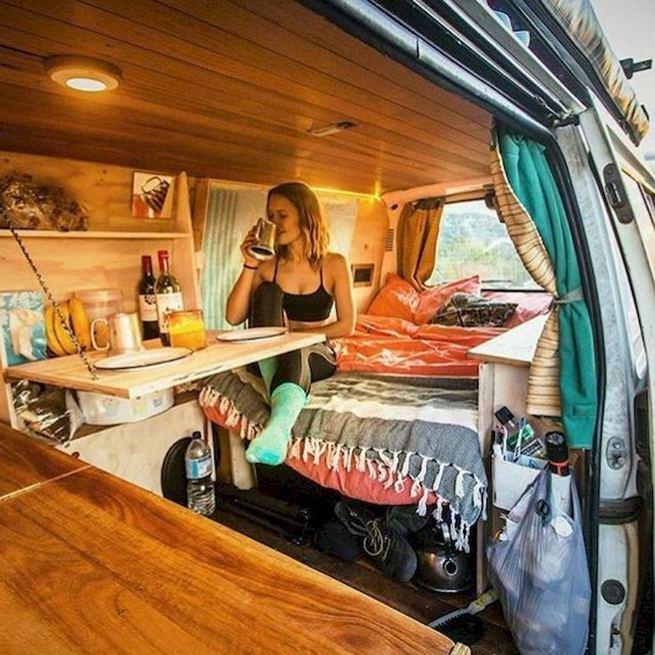 14 Best RV Camper Van Interior Decorating Ideas 20