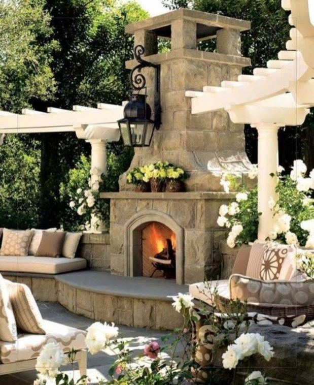 15 Amazing Outdoor Fireplace Design Ever 25