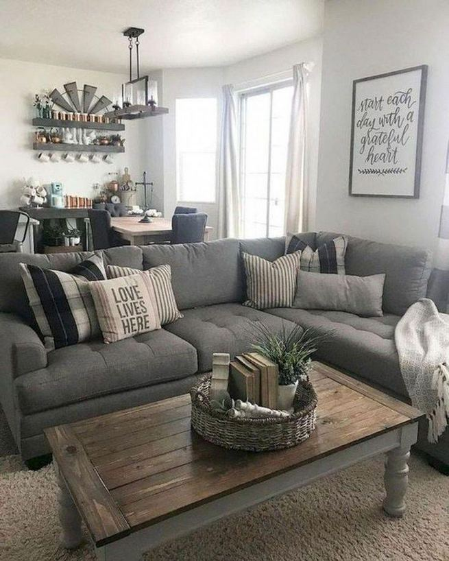 16 Cozy Farmhouse Style Living Room Decor Ideas 07