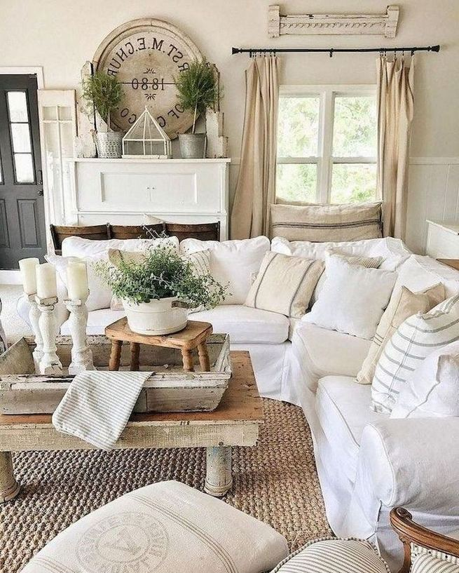 16 Cozy Farmhouse Style Living Room Decor Ideas 35