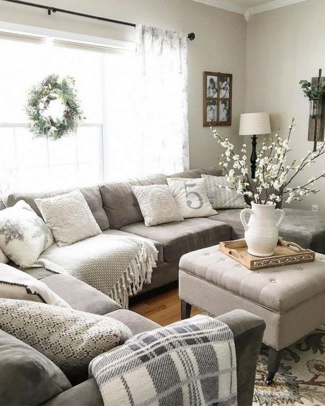 16 Cozy Farmhouse Style Living Room Decor Ideas 38