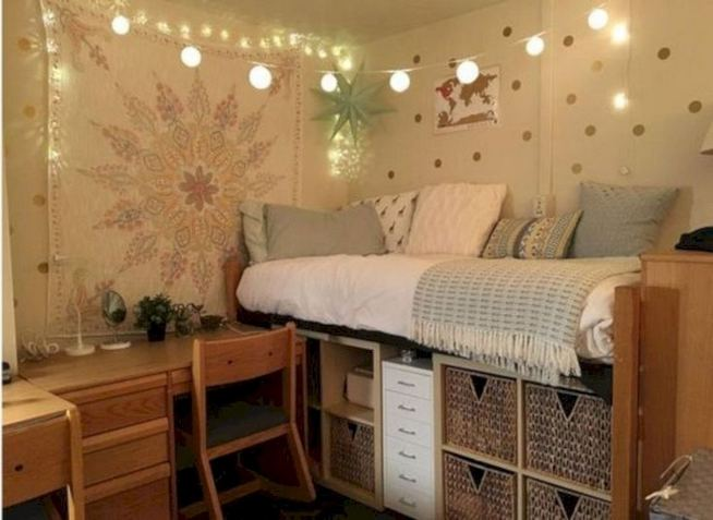 16 Creative Dorm Room Storage Organization Ideas On A Budget 02