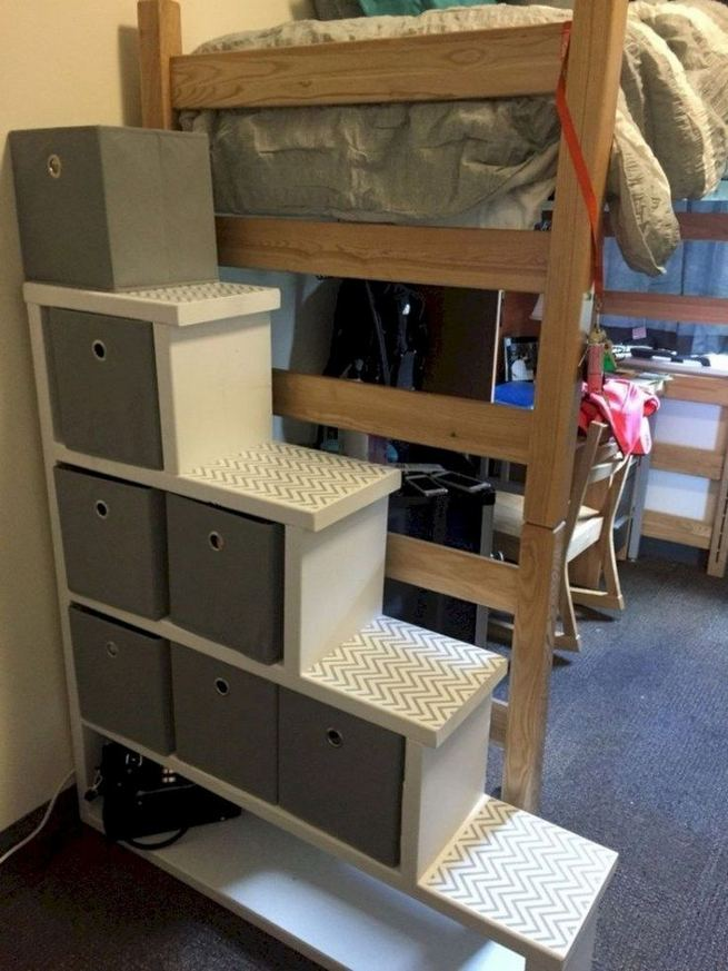 16 Creative Dorm Room Storage Organization Ideas On A Budget 13