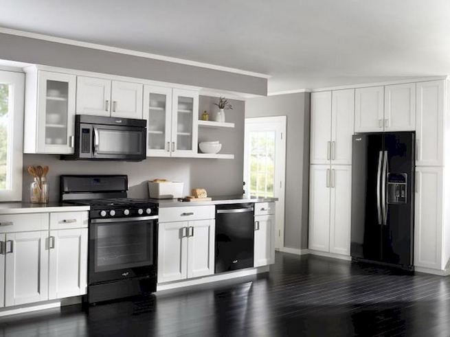 16 Luxurious Black White Kitchen Design Ideas 08