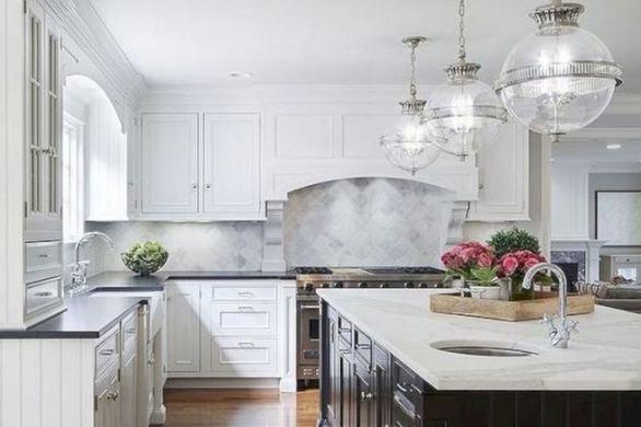16 Luxurious Black White Kitchen Design Ideas 15