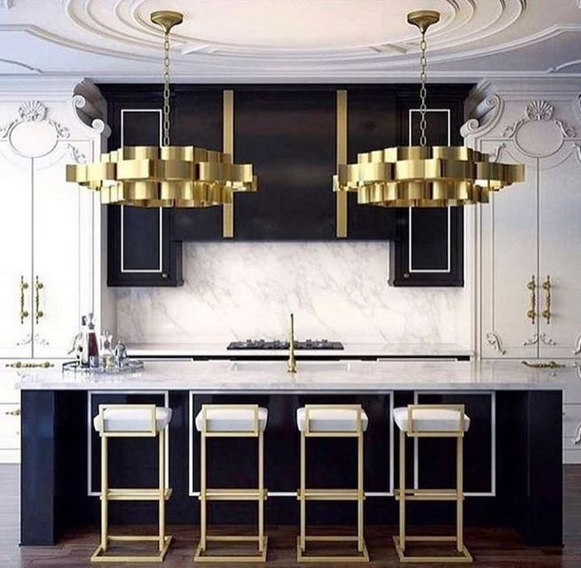 16 Luxurious Black White Kitchen Design Ideas 34