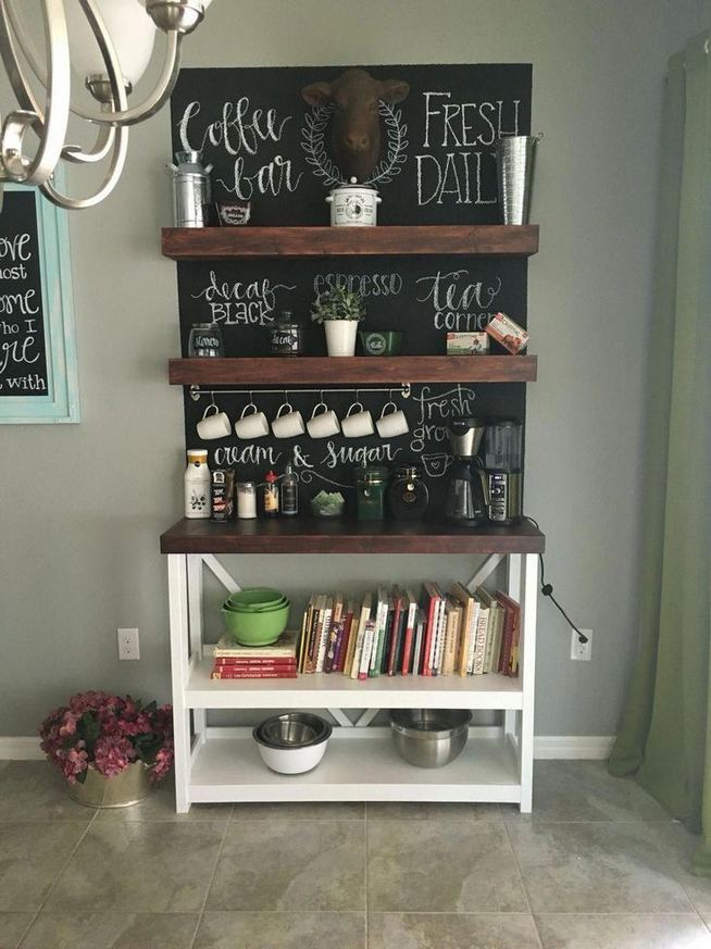 16 Stylish Home Coffee Bar Design Decor Ideas 12