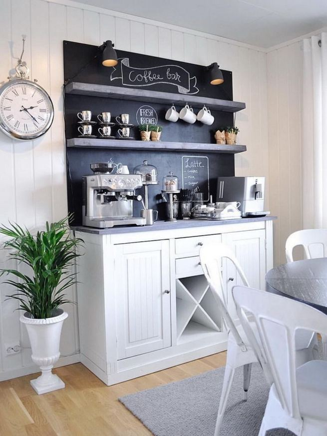 16 Stylish Home Coffee Bar Design Decor Ideas 16