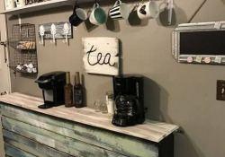 16 Stylish Home Coffee Bar Design Decor Ideas 25