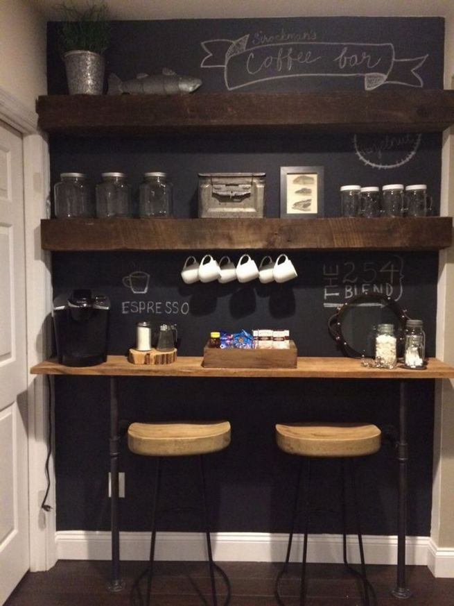 16 Stylish Home Coffee Bar Design Decor Ideas 33