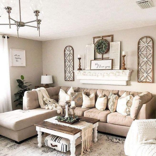 16 Wonderful Farmhouse Living Room Decor Design Ideas 05