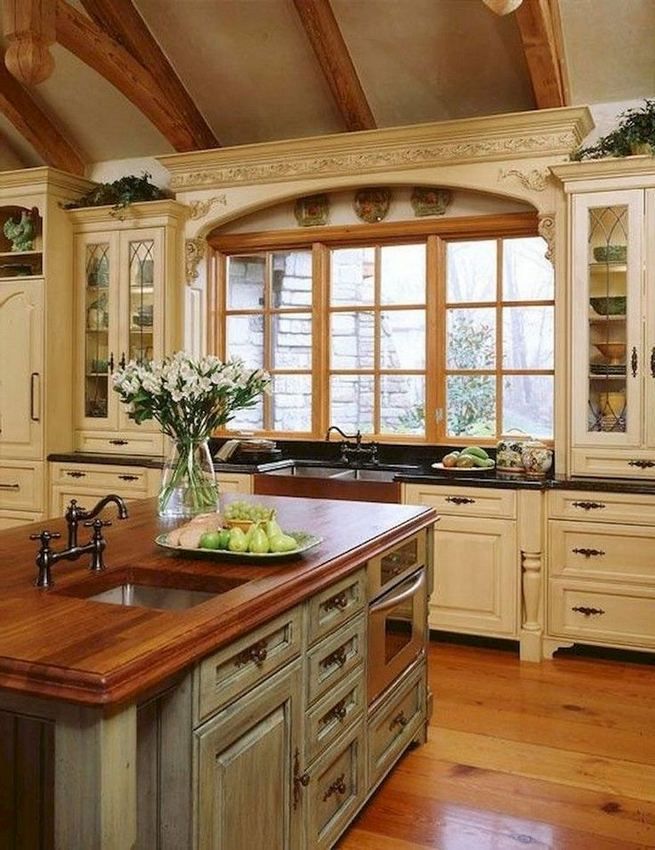 17 Inspiring Country Style Cottage Kitchen Cabinets Ideas 05