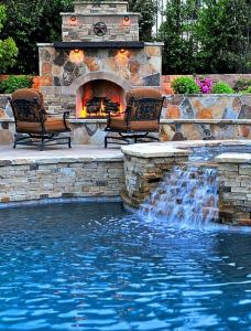 18 Gorgeous Outdoor Fireplaces And Patios Design Ideas For Your Backyard 14