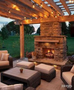 18 Gorgeous Outdoor Fireplaces And Patios Design Ideas For Your Backyard 26