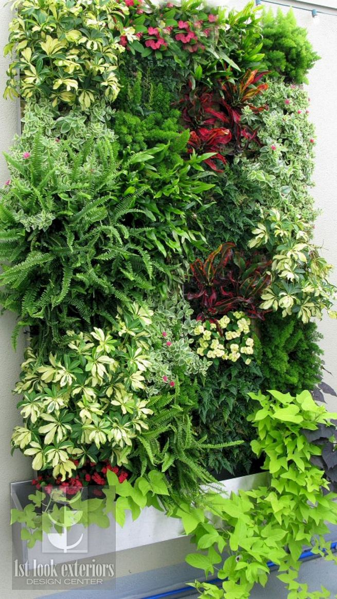 19 Charming DIY Wall Gardens Outdoor Design Best Ideas 32