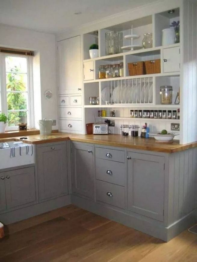 19 Clever Small Kitchen Remodel Open Shelves Ideas 09