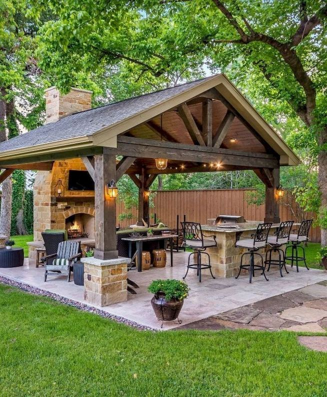 19 Fabulous Backyard Patio Landscaping Ideas 27