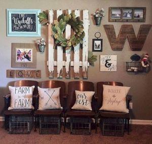 20 Unique Diy Rustic Farmhouse Decoration For Wall Living Room Ideas 18
