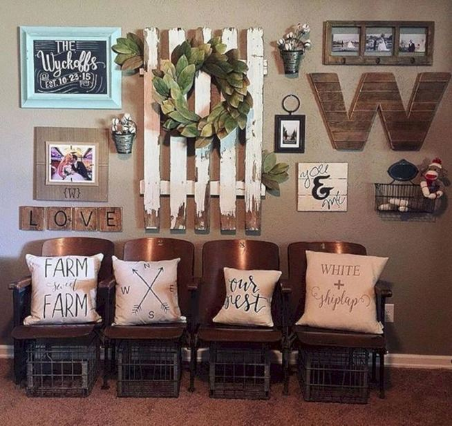 20 Unique Diy Rustic Farmhouse Decoration For Wall Living Room Ideas 18
