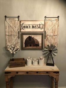 20 Unique Diy Rustic Farmhouse Decoration For Wall Living Room Ideas 27
