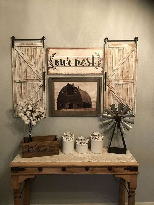 20 Unique Diy Rustic Farmhouse Decoration For Wall Living Room Ideas 27