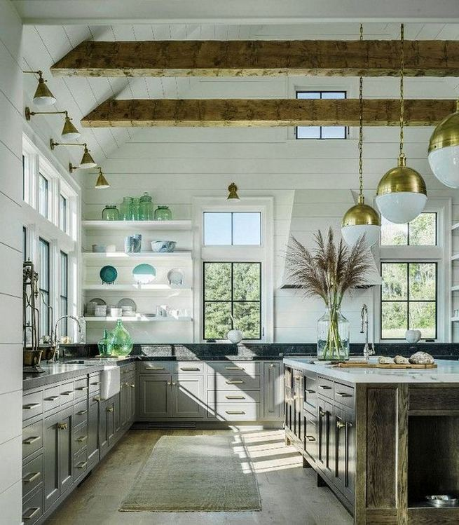 22 Stunning Farmhouse Style Cottage Kitchen Cabinets Ideas 03