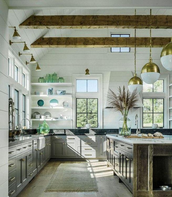 22 Stunning Farmhouse Style Cottage Kitchen Cabinets Ideas 03
